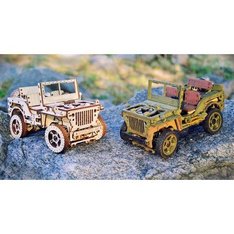 Дерев'яний механічний 3D-пазл Wooden.City Автомобіль 4х4 - /*Photo|product*/