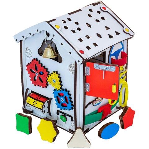 Бизиборд GoodPlay Развивающий домик с подсветкой (24×24×30) Превью 3